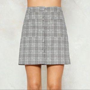 nasty gal plaid skirt